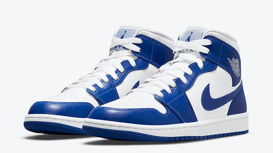 Air Jordan 1 Mid White Blue BQ6472-104 front