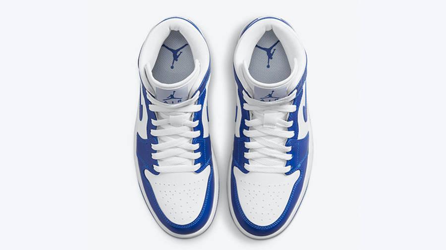 Air Jordan 1 Mid White Blue BQ6472-104 middle