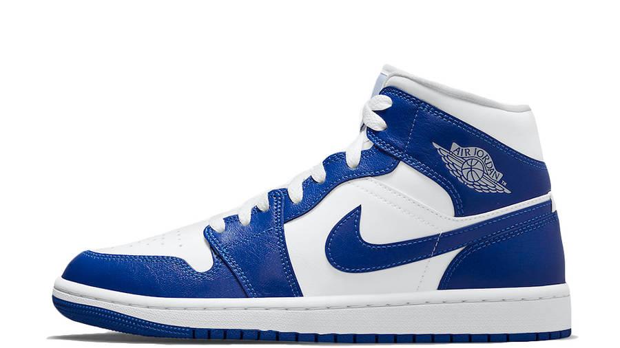 Air Jordan 1 Mid White Blue BQ6472-104