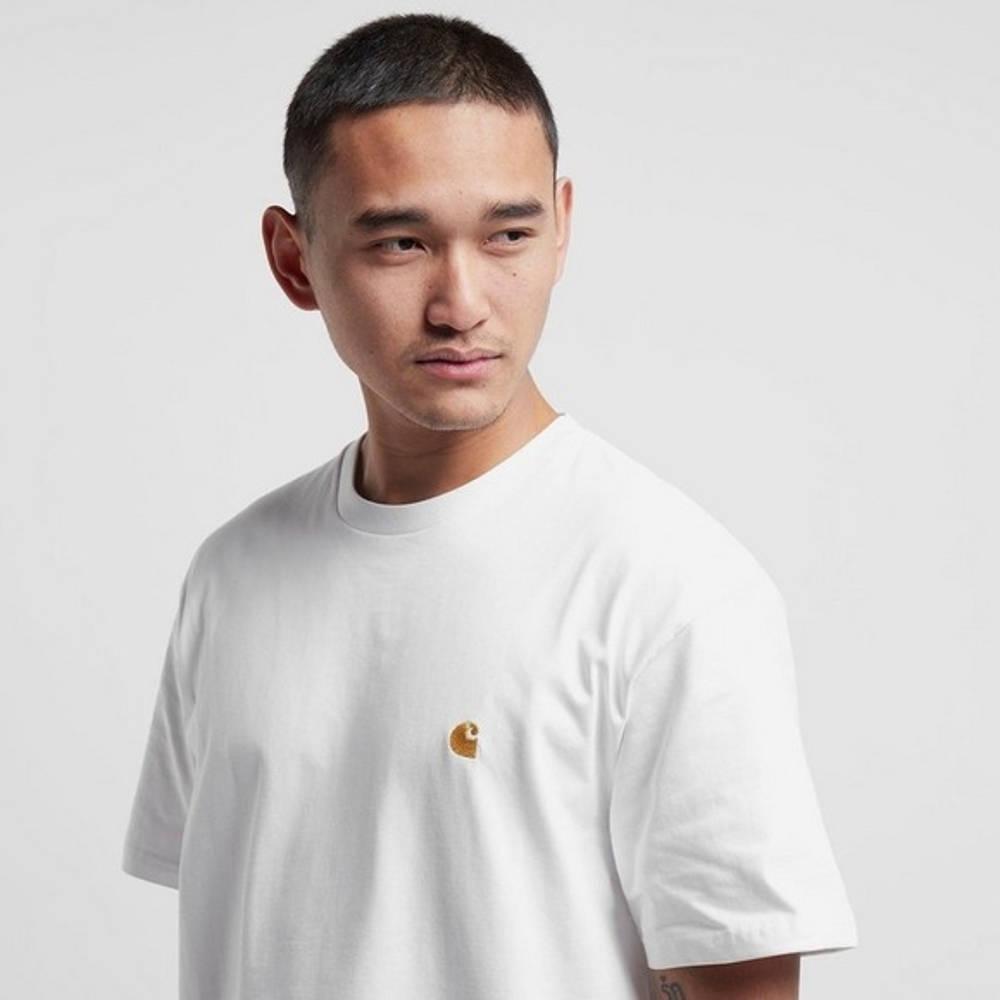 Carhartt WIP Chase T-Shirt White Detail