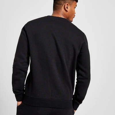 Champion Box Logo Crew Sweatshirt Black Back