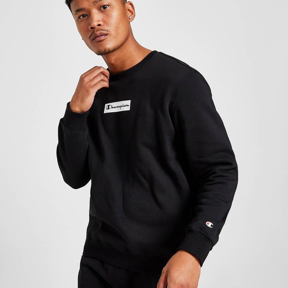 Champion Box Logo Crew Sweatshirt Black