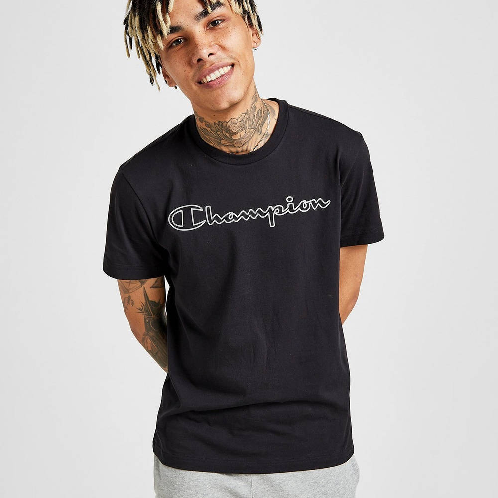 Champion Reflective T-Shirt Black