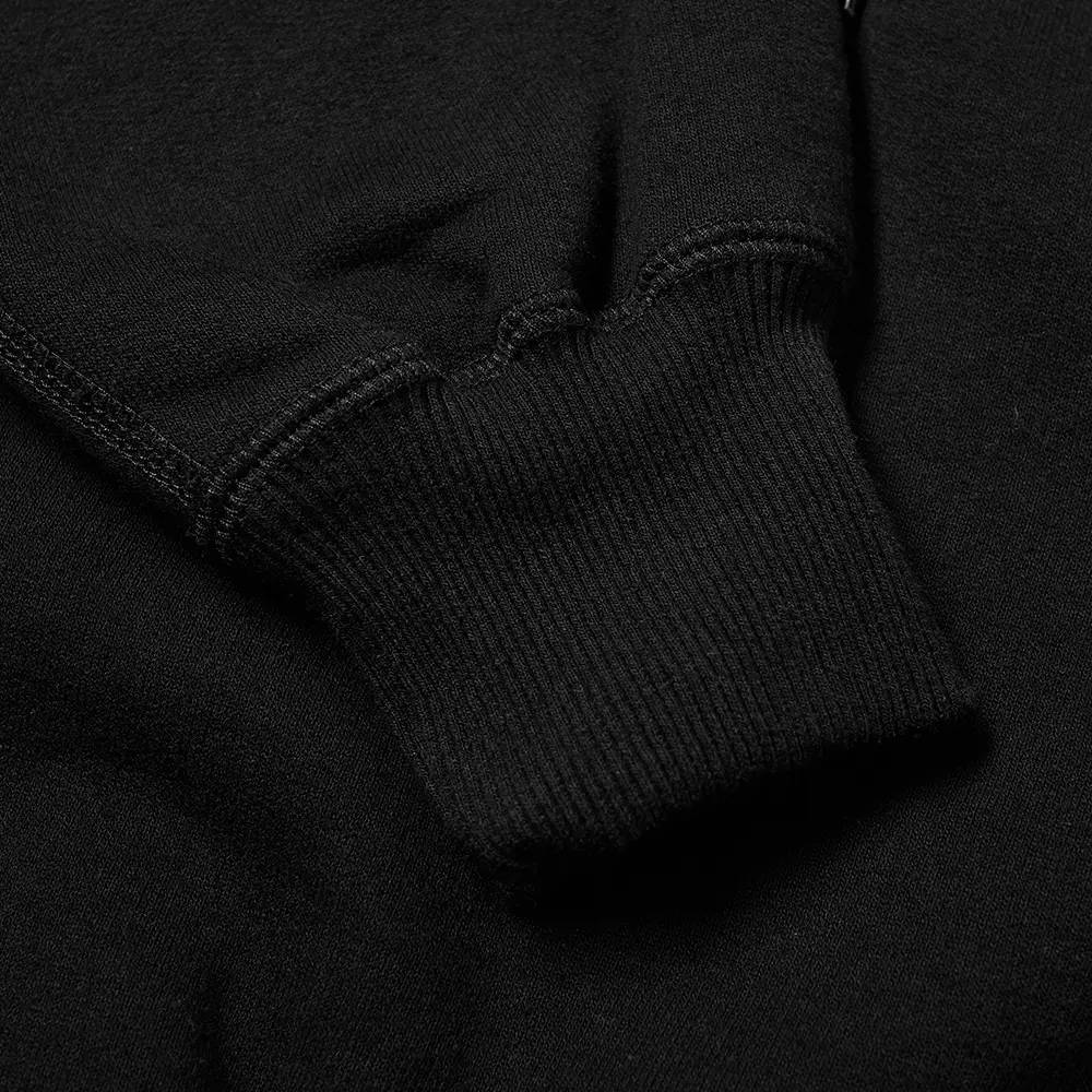 Cole Buxton Classic Warm Up Hoodie Black Detail 2