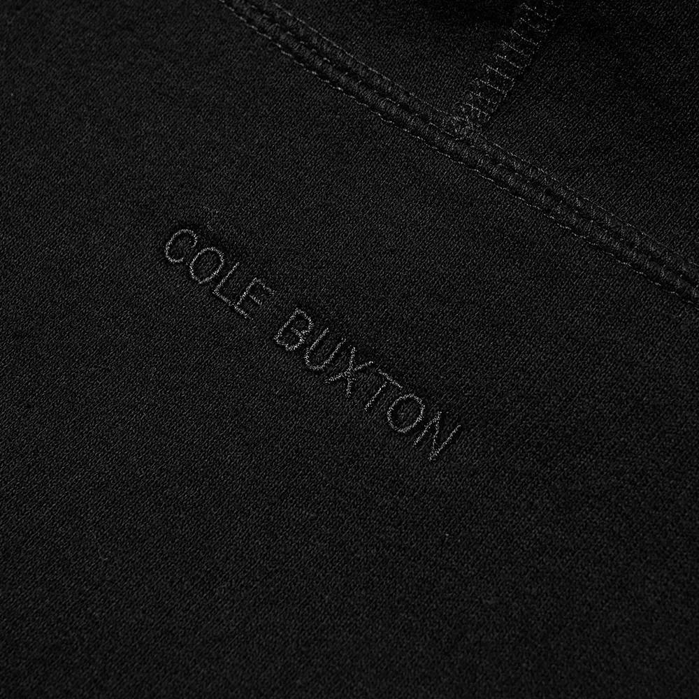 Cole Buxton Classic Warm Up Hoodie Black Detail 3
