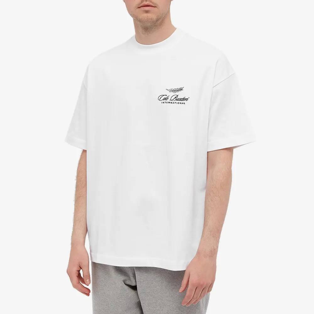 Cole Buxton International Logo T-Shirt White Front