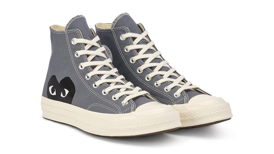 Comme des Garcons Play x Converse Chuck Taylor All Star 70 Hi Grey Side
