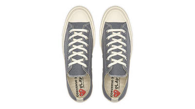 Comme des Garcons Play x Converse Chuck Taylor All Star 70 Low Grey Top