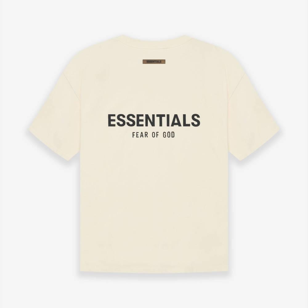 Fear of God ESSENTIALS SS21 Drop 1 Short Sleeve T-Shirt Buttercream Back