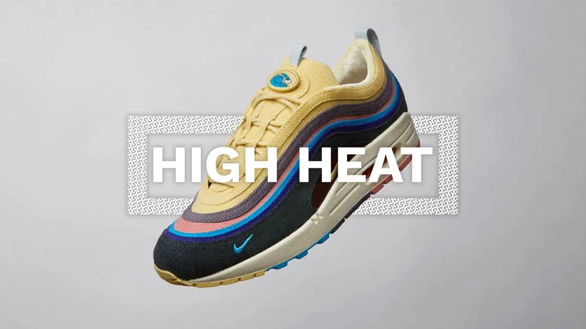 high heat sneakers laced