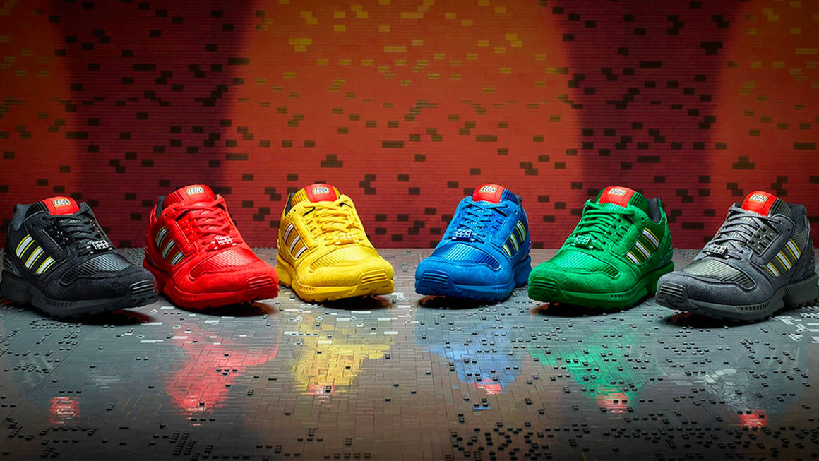 """The LEGO x adidas ZX 8000 """"Bricks"""" Collection is Still Available at adidas UK!"""