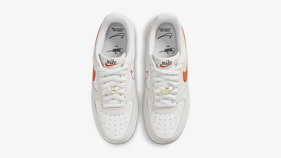 Nike Air Force 1 Low First Use White Orange DA8302-101 Top