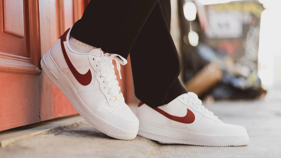 Nike Air Force 1 White Team Red