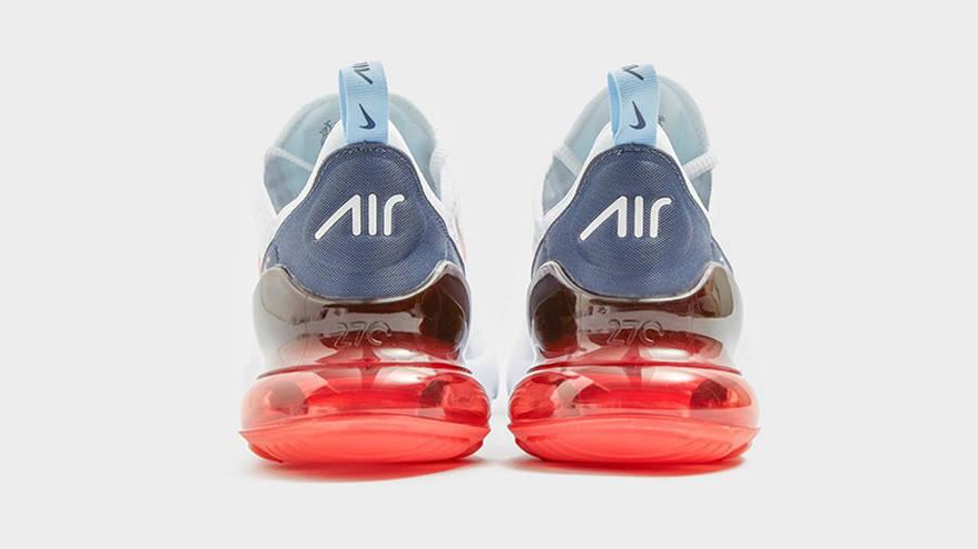 Nike Air Max 270 White Peach back