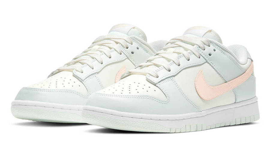 Nike Dunk Low Barely Green Crimson Tint Front