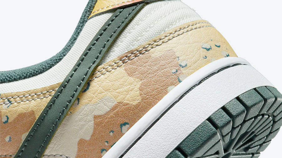 Nike Dunk Low Multi Camo Closeup