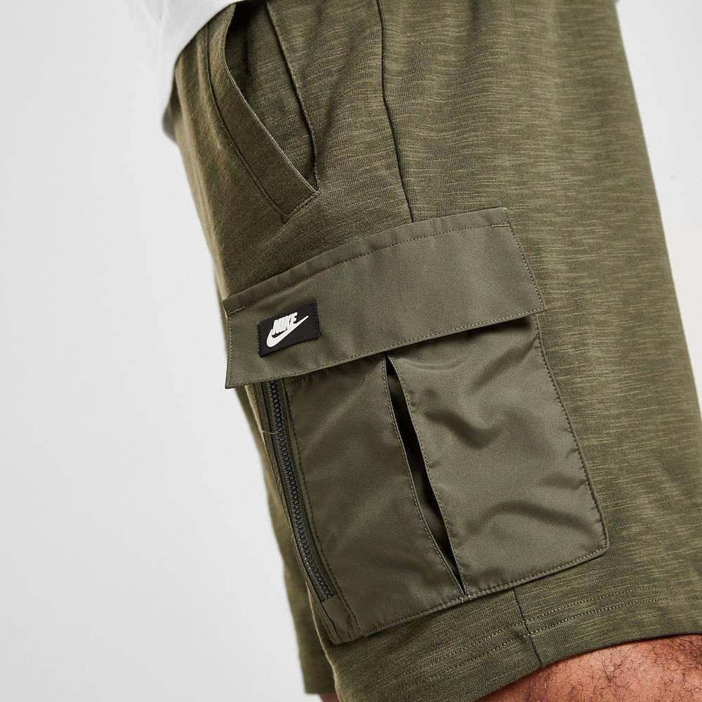 Nike Modern Lightweight Cargo Shorts Green Detail