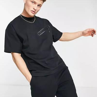 Nike Tech Fleece Sweat T-shirt Black Front
