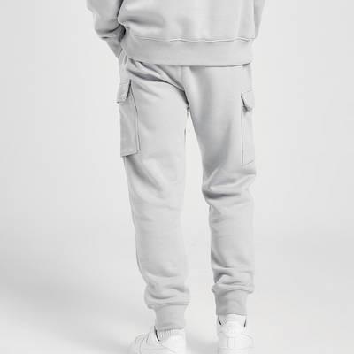 Nike Zig Zag Swoosh Cargo Joggers Grey Back