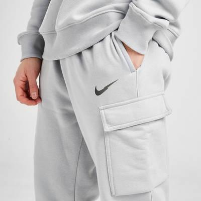 Nike Zig Zag Swoosh Cargo Joggers Grey Detail