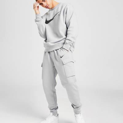 Nike Zig Zag Swoosh Cargo Joggers Grey Full 2