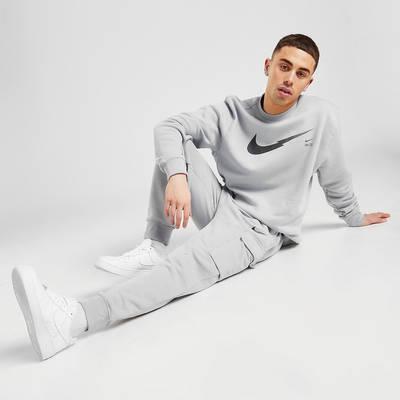 Nike Zig Zag Swoosh Cargo Joggers Grey Full