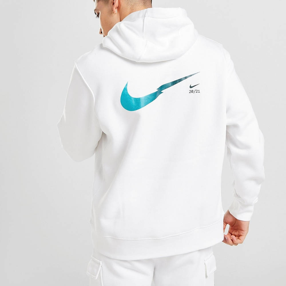 Nike Zig Zag Swoosh Hoodie White Back 2
