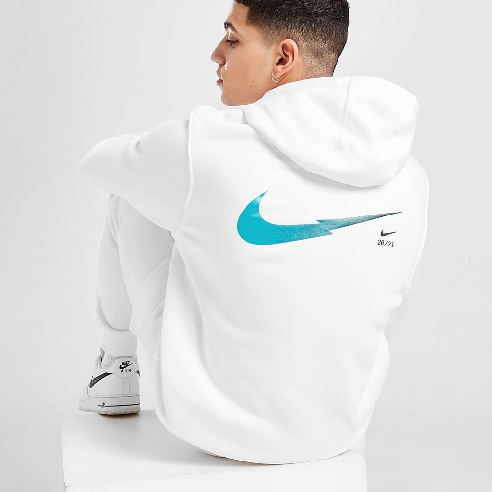 Nike Zig Zag Swoosh Hoodie White Back