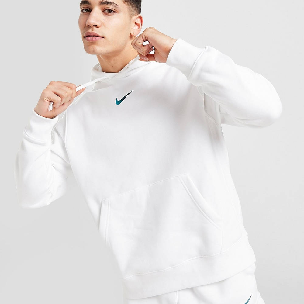 Nike Zig Zag Swoosh Hoodie White