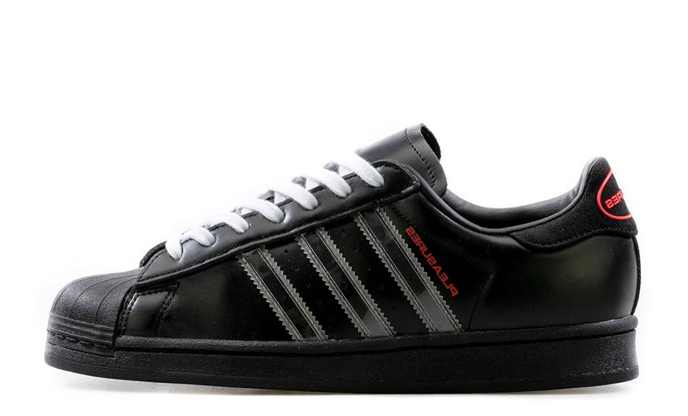 PLEASURES x adidas Superstar Black