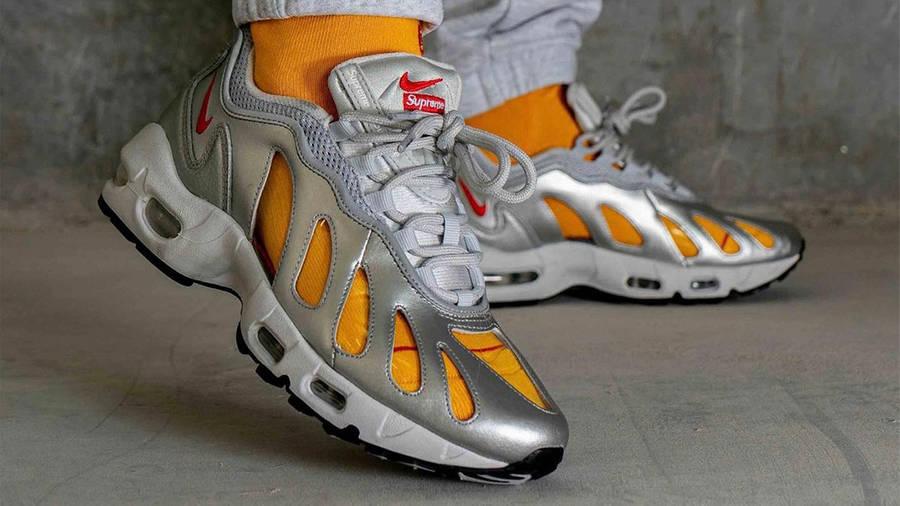 Supreme x Nike Air Max 96 Metallic Silver Side