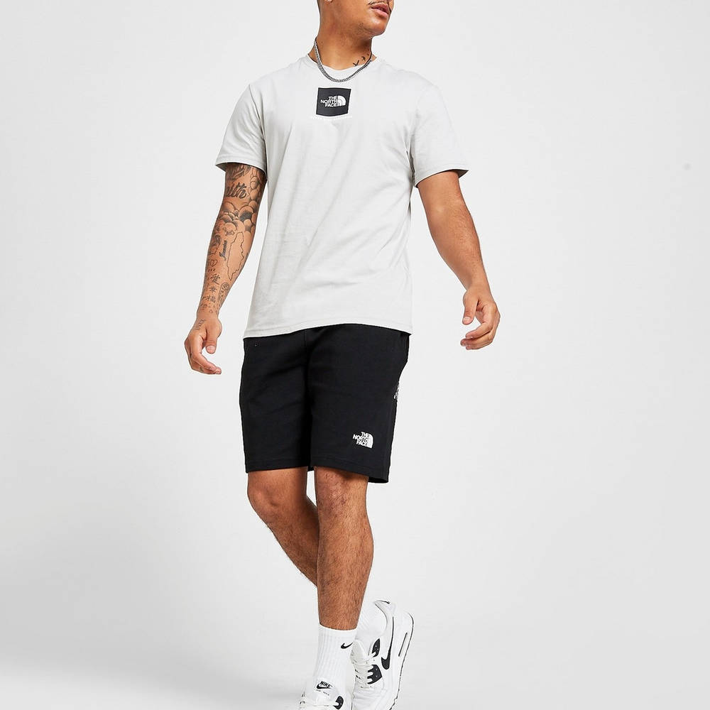 The North Face Central Box Short Sleeve T-Shirt Grey Full