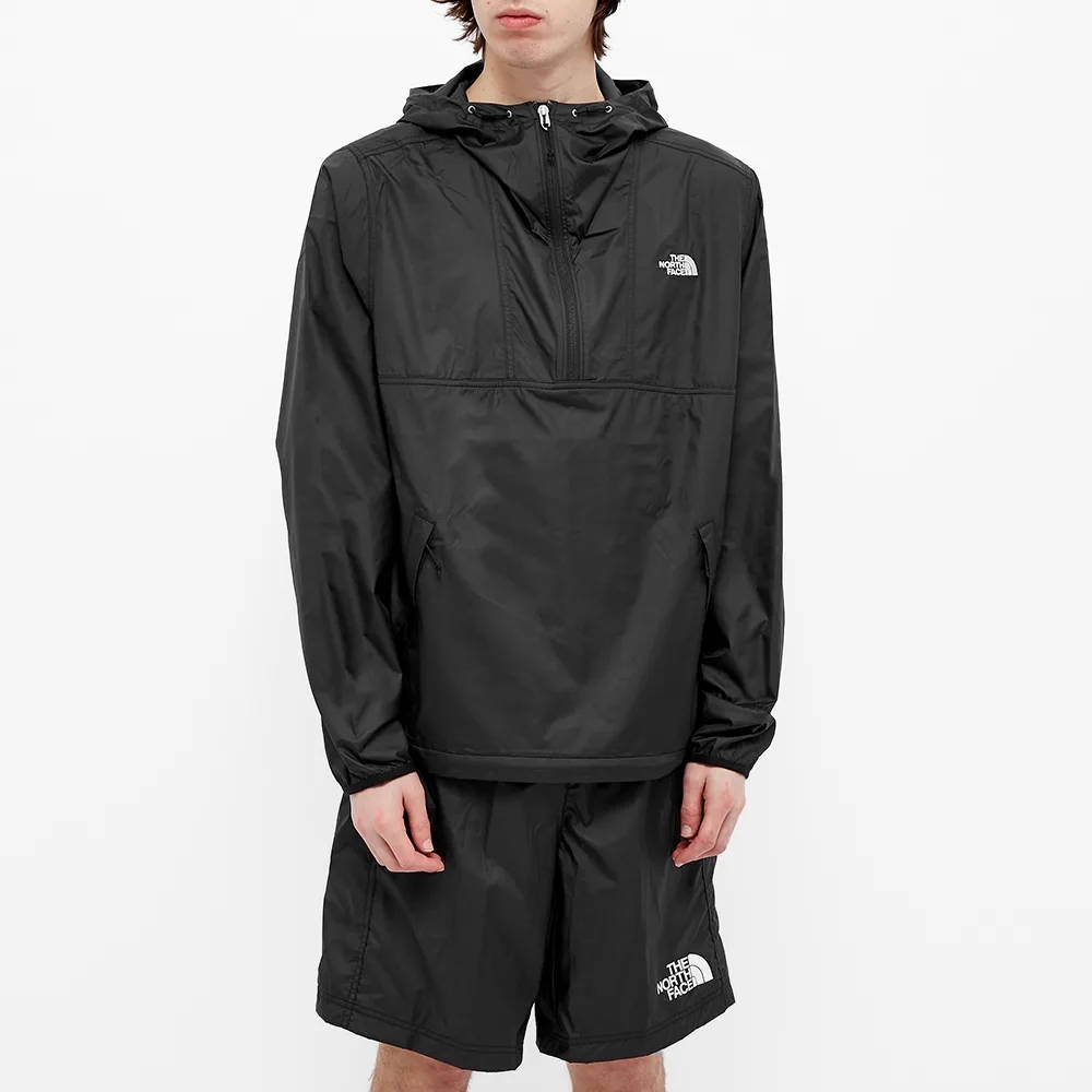 The North Face Cyclone 1-2 Zip Anorak Black Front