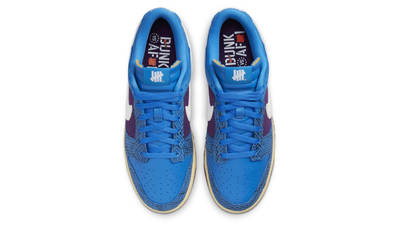 Undefeated x Nike Dunk Low Blue Purple Middle