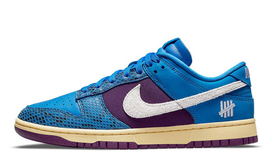 Undefeated x Nike Dunk Low Blue Purple