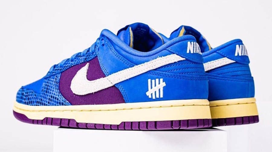 UNDEFEATED x Nike Dunk Low Blue Snakeskin Back 2