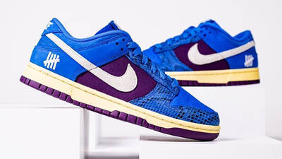 UNDEFEATED x Nike Dunk Low Blue Snakeskin Side 2