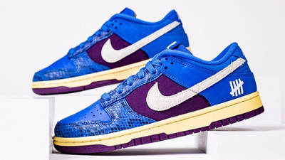 UNDEFEATED x Nike Dunk Low Blue Snakeskin Side