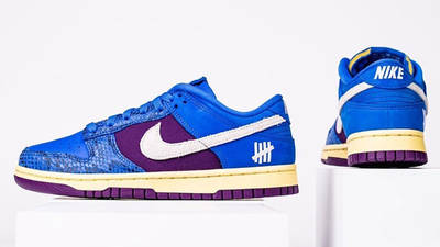 UNDEFEATED x Nike Dunk Low Blue Snakeskin