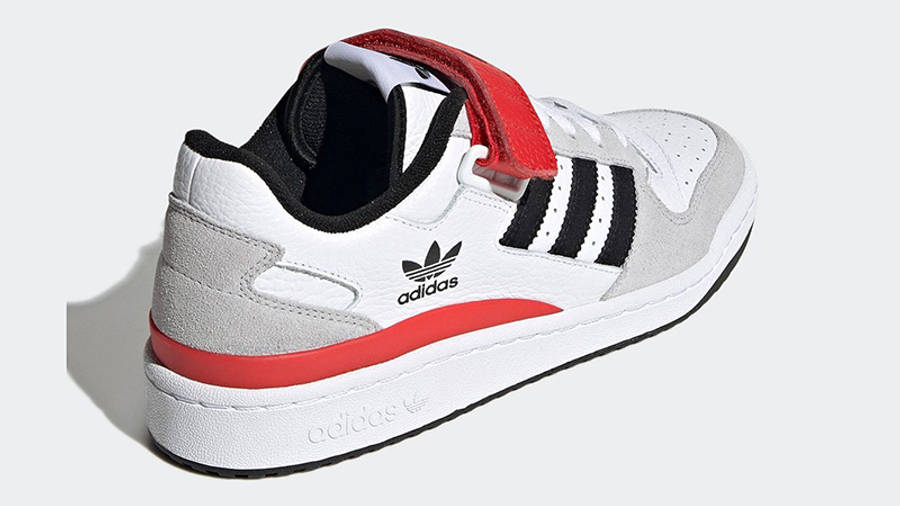 adidas Forum Low White Grey Black Red GY3249 Back