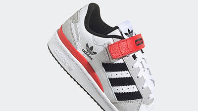 adidas Forum Low White Grey Black Red GY3249 Detail