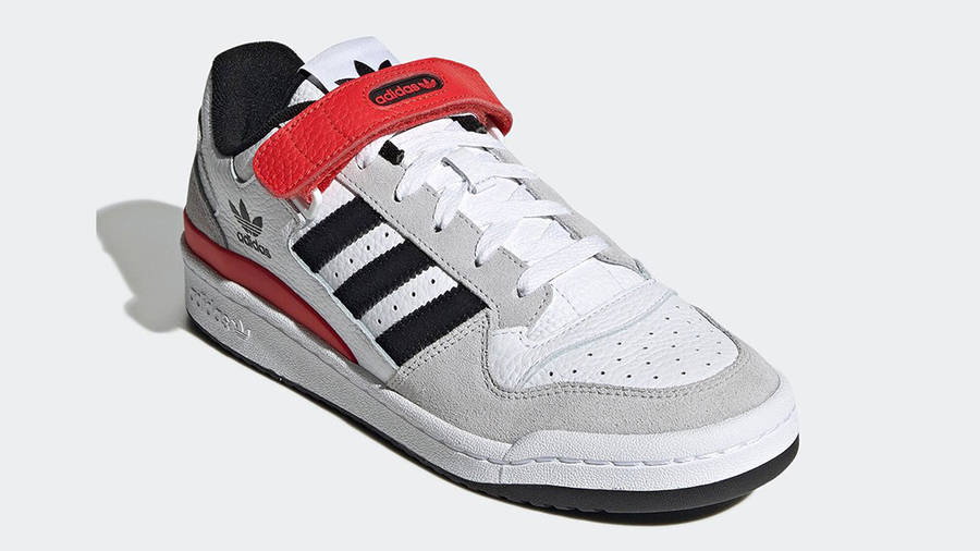 adidas Forum Low White Grey Black Red GY3249 Side