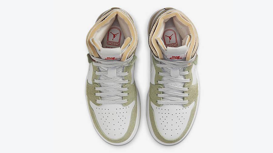 Air Jordan 1 High Zoom White Khaki CT0979-102 miiddle