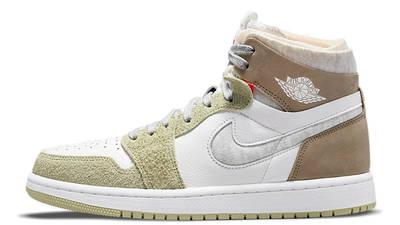Air Jordan 1 High Zoom White Khaki CT0979-102