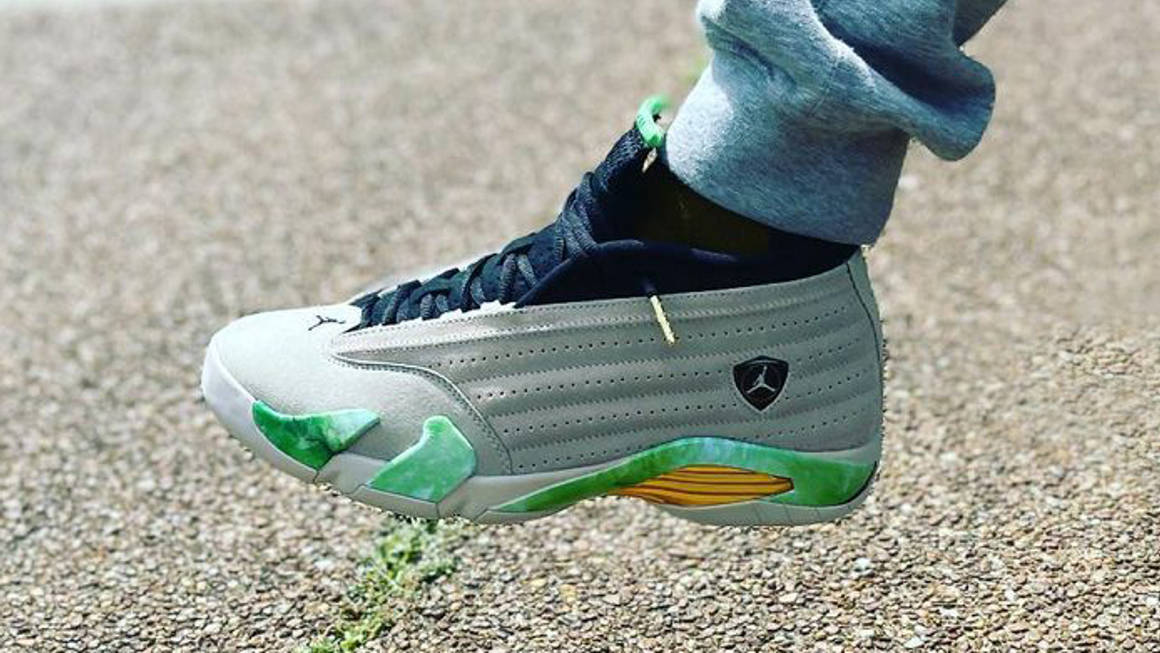 """The Aleali May x Air Jordan 14 Low """"Light Sand"""" Gets Unveiled   The Sole  Supplier"""