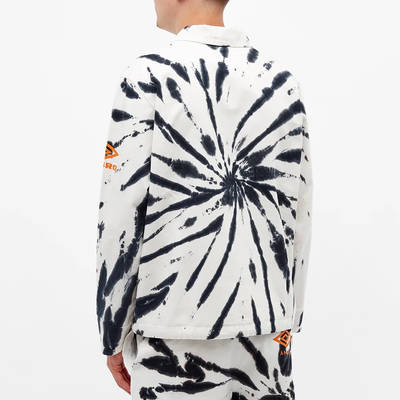Aries x Umbro Tie Die Pro 64 Pullover Sweatshirt Black Spiral Back