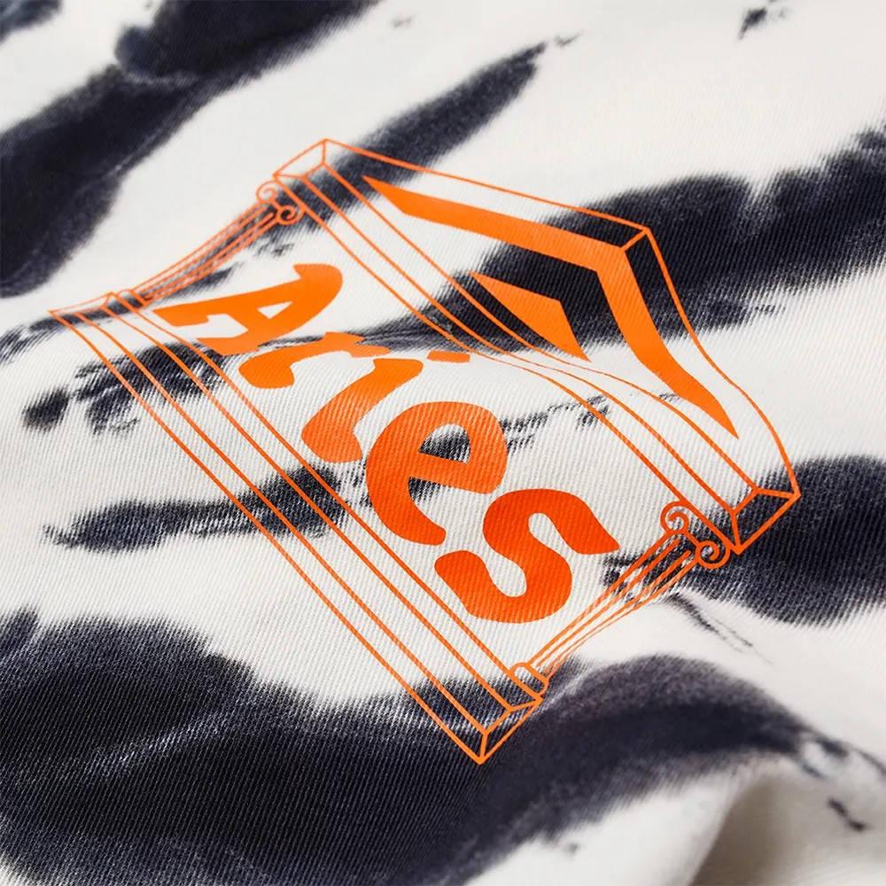 Aries x Umbro Tie Die Pro 64 Pullover Sweatshirt Black Spiral Detail