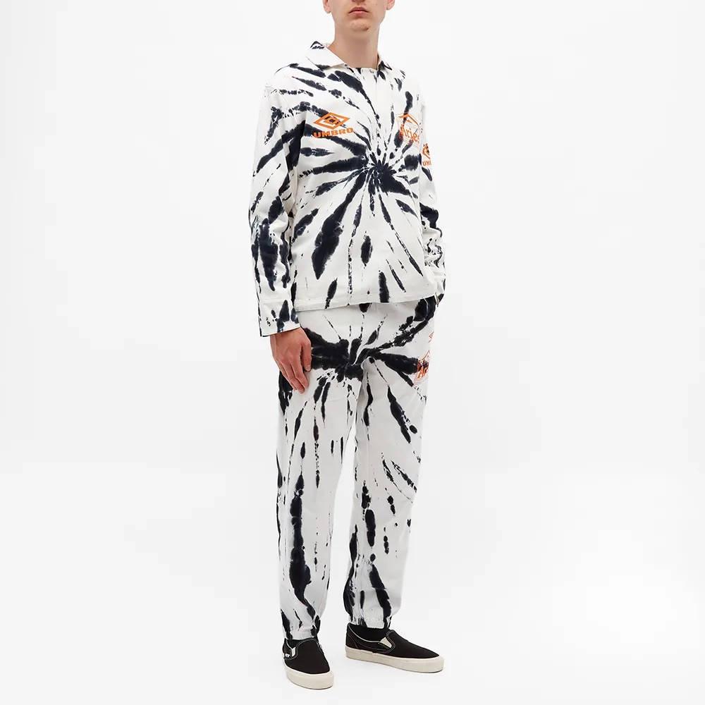 Aries x Umbro Tie Die Pro 64 Pullover Sweatshirt Black Spiral Full