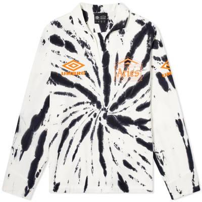 Aries x Umbro Tie Die Pro 64 Pullover Sweatshirt Black Spiral