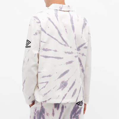 Aries x Umbro Tie Die Pro 64 Pullover Sweatshirt Dusk Spiral Bacl